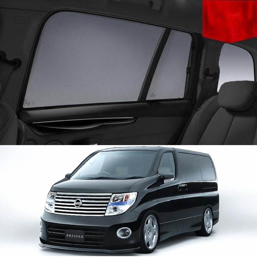 For Nissan Elgrand 2002-2009 E51 Magnetic Rear Side Car Window Sun Blind Sun Shade