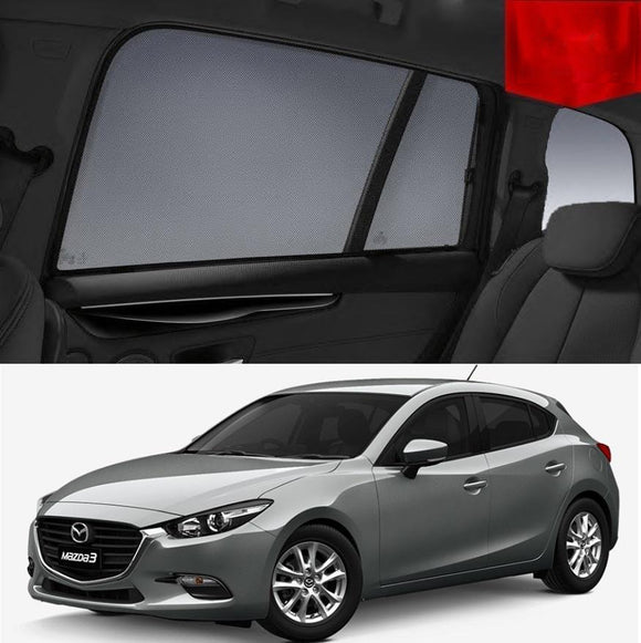 Mazda 3 Hatchback BM 2014-2018 Magnetic Rear Car Window Sun Blind Sun Shade Mesh
