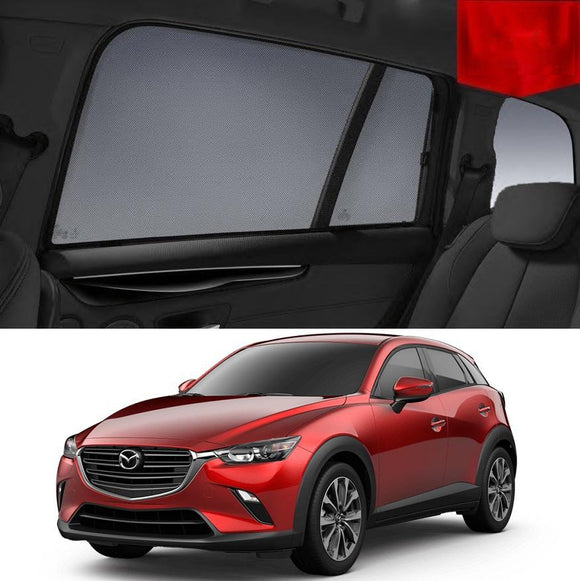 Mazda CX-3 DK 2015-2019 Magnetic Rear Side Car Window Sun Blind Sun Shade Mesh