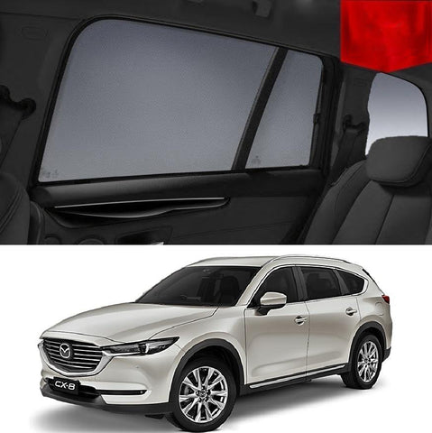 For Mazda CX-8 KG 2018-2020 Magnetic Rear Side Car Window Sun Blind Sun Shade Mesh