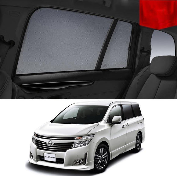 Nissan Elgrand 2010-2018 E52   Car Shades | Snap On Magnetic Sun Shades Window Blind