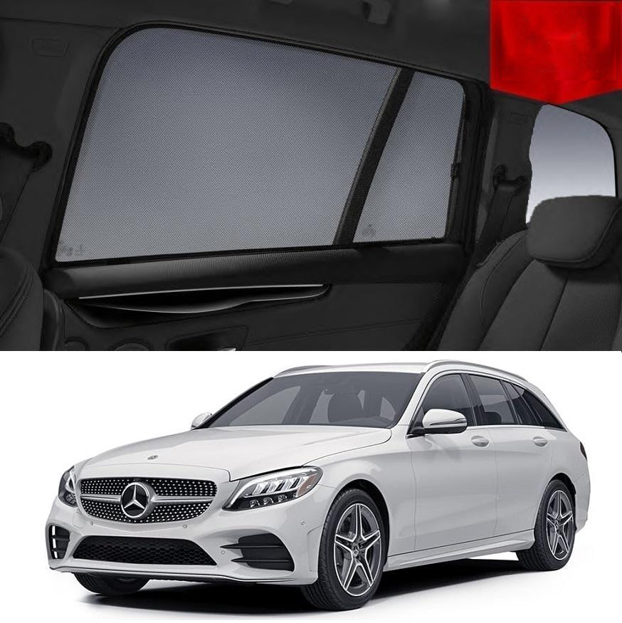 For MERCEDES-BENZ C-Class Wagon 2015-2019 W205 Rear Window Sun Blind Sun Shade Mesh