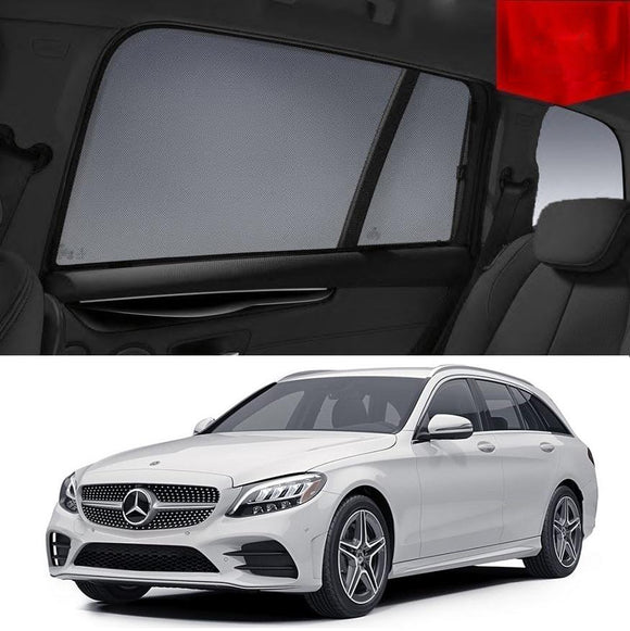 MERCEDES-BENZ C-Class Wagon 2015-2019 W205  Car Shades | Snap On Magnetic Sun Shades Window Blind