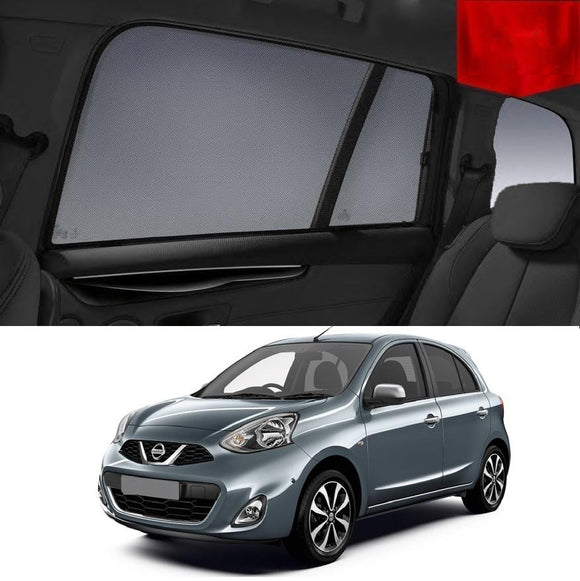 Nissan Micra K13 2010-2016   Car Shades | Snap On Magnetic Sun Shades Window Blind