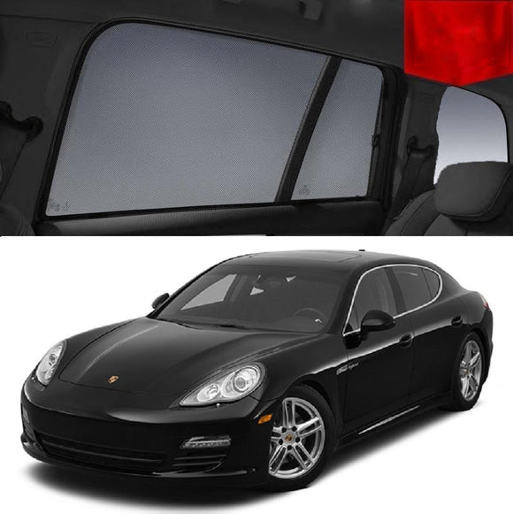 Porsche Panamera 2010-2016 970   Car Shades | Snap On Magnetic Sun Shades Window Blind