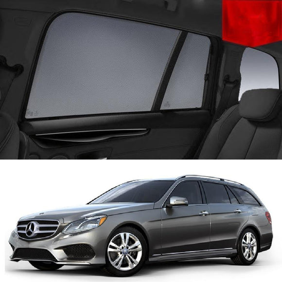 MERCEDES-BENZ E-Class Estate Wagon 2009-2016 S212  Car Shades | Snap On Magnetic Sun Shades Window Blind