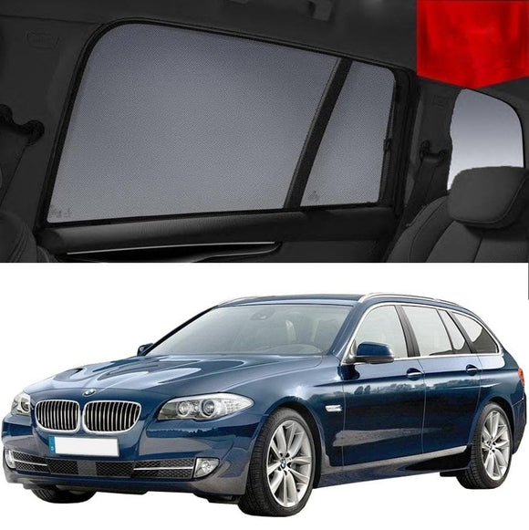 BMW 5 Series 2010-2017 F11  Car Shades | Snap On Magnetic Sun Shades Window Blind