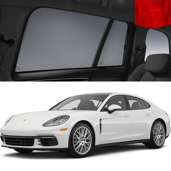 Porsche Panamera 2017-2019 971   Car Shades | Snap On Magnetic Sun Shades Window Blind