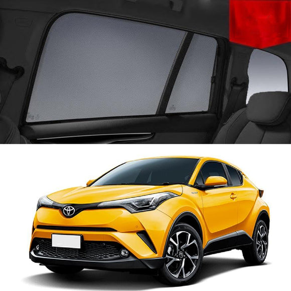 TOYOTA C-HR 2017-2020 Car Shades | Snap On Magnetic Sun Shades Window Blind