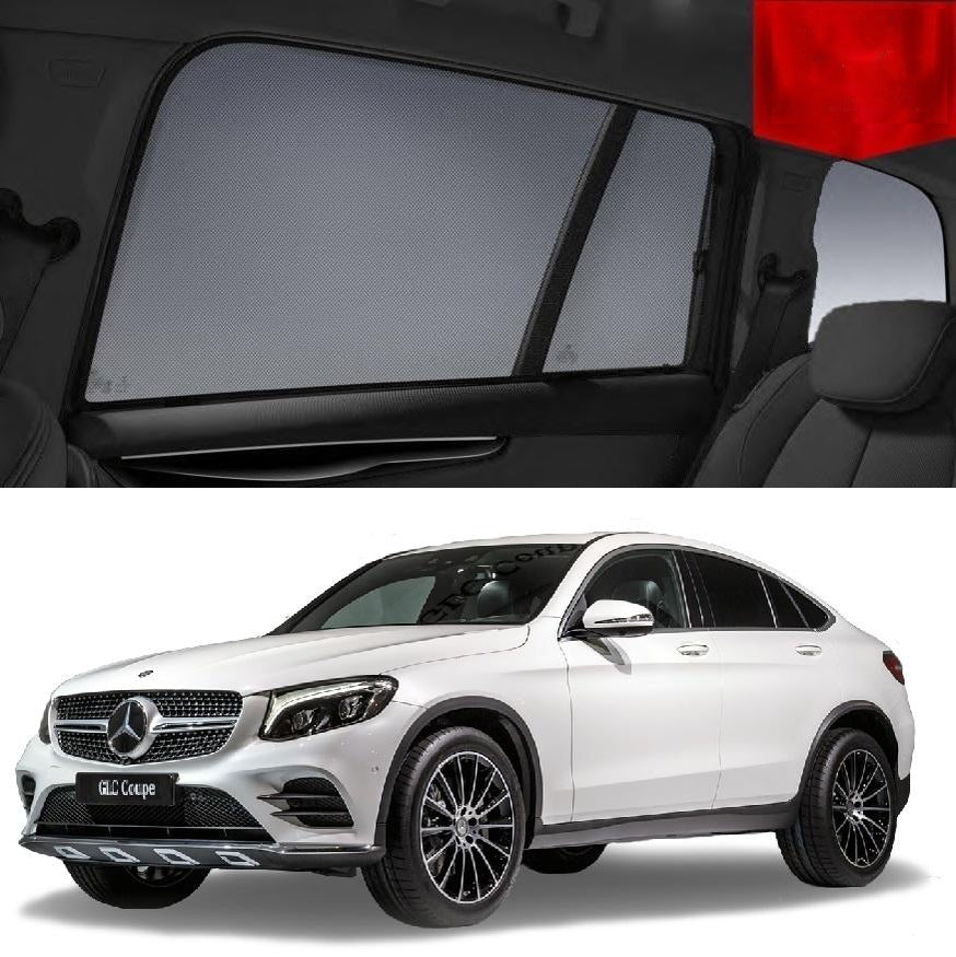 For Mercedes-Benz GLC Coupé 2015-2019 C253 Rear Side Car Window Sun Blind Sun Shade Mesh
