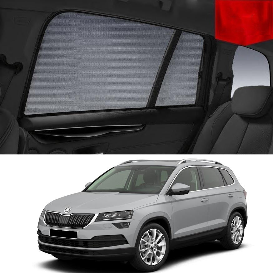 For SKODA Karoq 2017-2020 Magnetic Rear Side Car Window Sun Blind Sun Shade