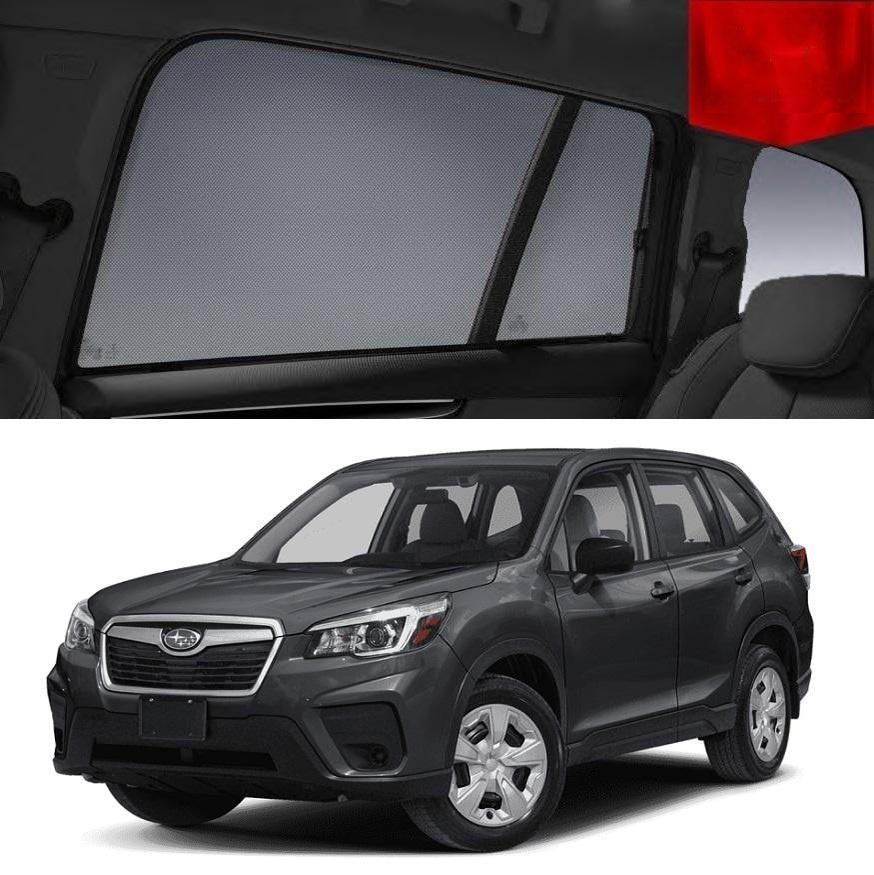 For SUBARU Forester 2018-2020 S5 Magnetic Rear Side Car Window Sun Blind Sun Shade