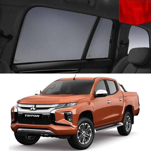 Mitsubishi Triton 2019 MR   Car Shades | Snap On Magnetic Sun Shades Window Blind