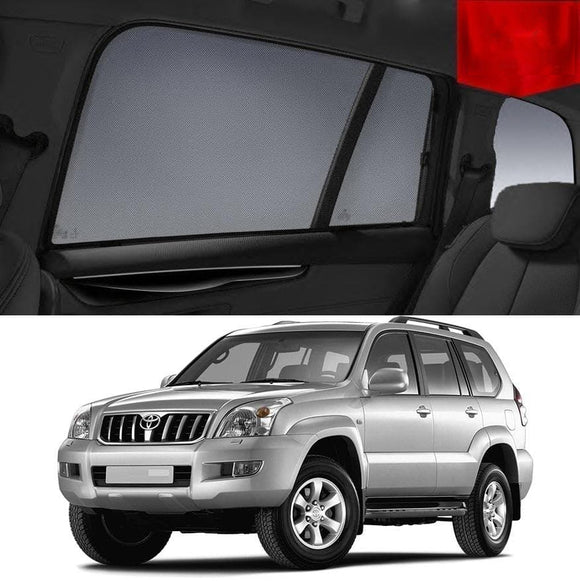 TOYOTA Landcruiser PRADO J120 2003-2009  Car Shades | Snap On Magnetic Sun Shades Window Blind