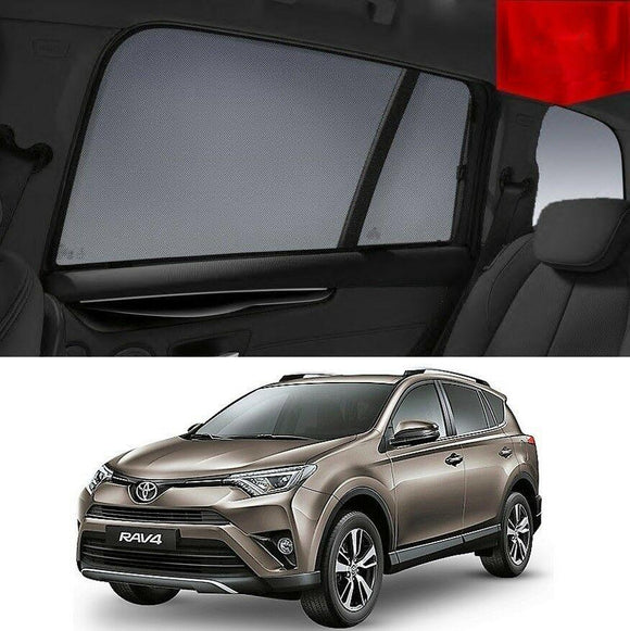 TOYOTA RAV4 2013-2018   Car Shades | Snap On Magnetic Sun Shades Window Blind