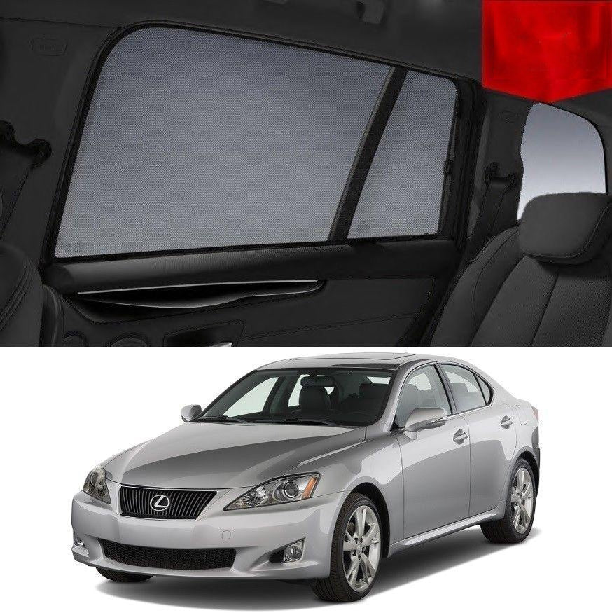 For LEXUS IS ( XE20) 2005-2013 Sedan Rear Side Car Window Sun Blind Sun Shade For baby Mesh