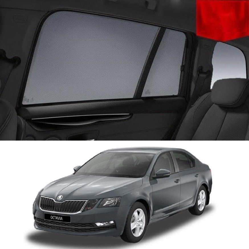 For SKODA OCTAVIA Sedan 2013-2019 Magnetic Rear Side Car Window Sun Blind Sun Shade