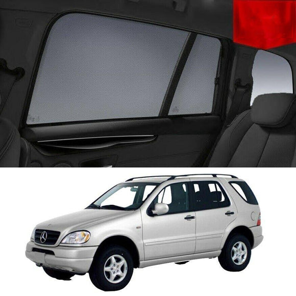 MERCEDES-BENZ ML SUV 1998-2005 W163   Car Shades | Snap On Magnetic Sun Shades Window Blind