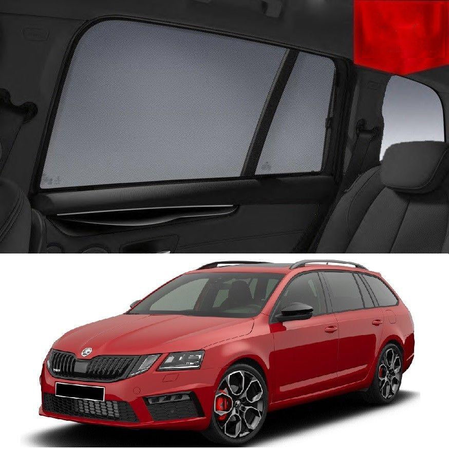 For SKODA OCTAVIA Wagon 2016-2019 Magnetic Rear Side Car Window Sun Blind Sun Shade