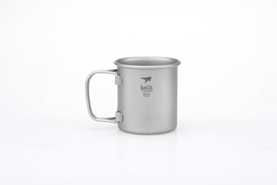Keith Single-Wall Titanium Mug with Folding Handle Ti3200