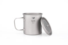 Load image into Gallery viewer, Keith Single-Wall Titanium Mug with  Folding Handle and Lid Ti3206