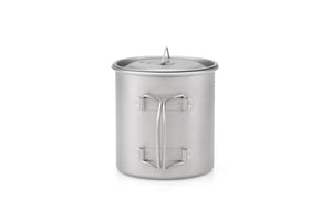 Keith Single-Wall Titanium Mug with  Folding Handle and Lid Ti3206
