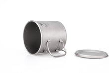 Load image into Gallery viewer, Keith Single-Wall Titanium Mug with  Folding Handle and Lid Ti3208