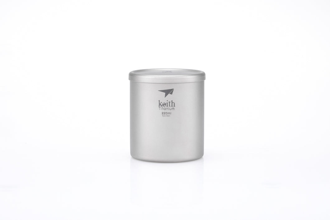 Keith Double-wall Titanium Mug with Lid Ti3301