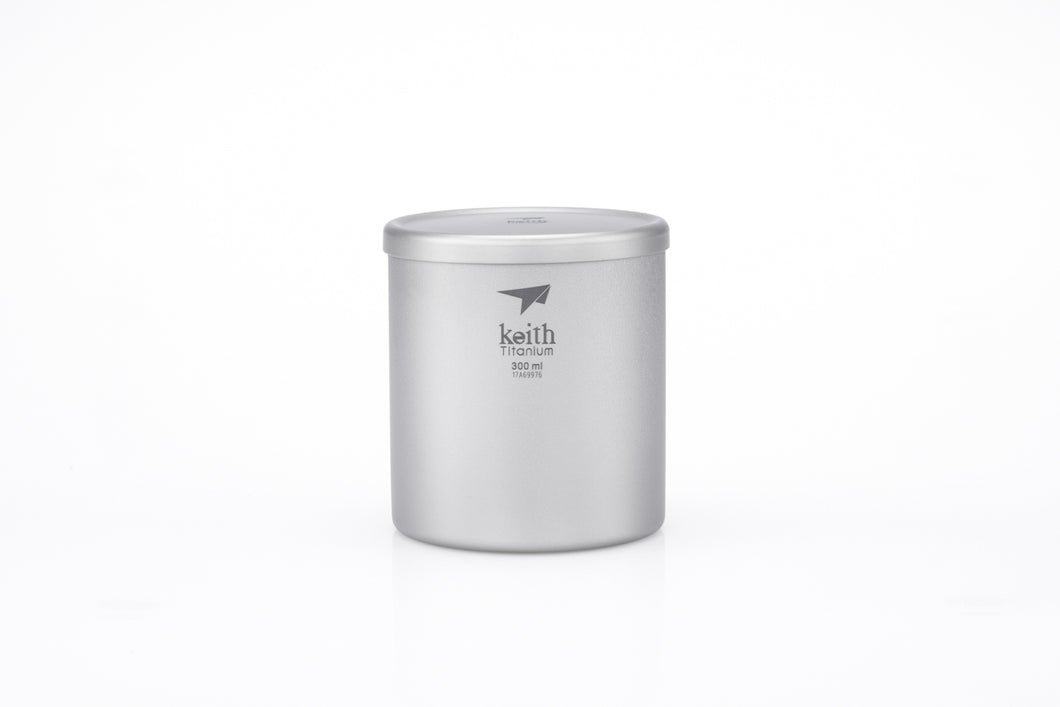 Keith Double-wall Titanium Mug with Lid Ti3302