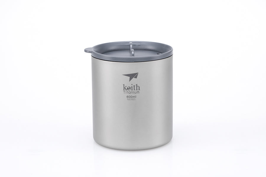 Keith Double-wall Titanium Mug with Lid Ti3306
