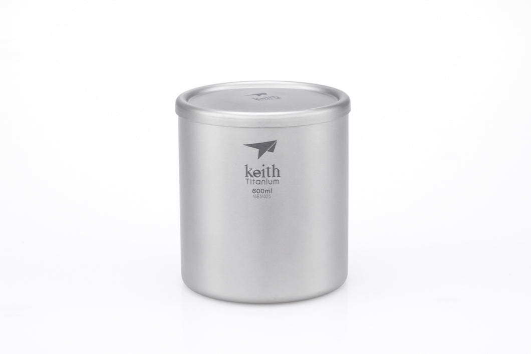 Keith Double-Wall Titanium Mug with Lid Ti3307