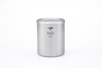 Keith Double-wall Titanium Mug with Lid Ti3342