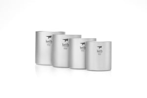 Keith Double-wall Titanium Mug-4 pieces Ti3501
