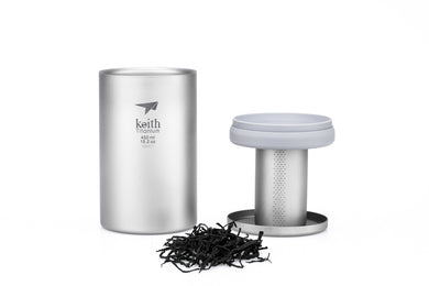 Keith Titanium Desktop Mug with Ti3521 Tea Infuser