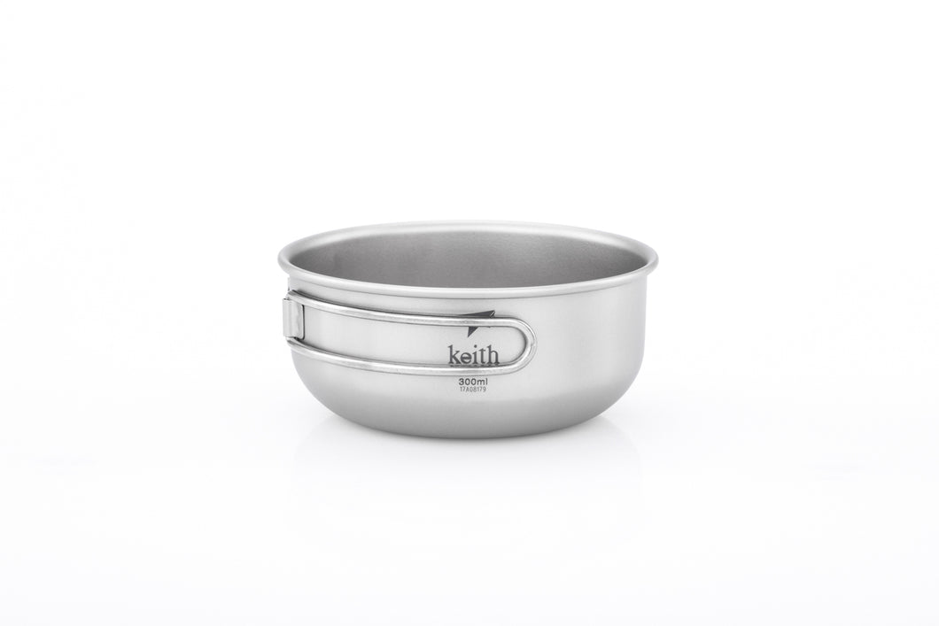 Keith Titanium Single-Wall Bowl with Folding Handle Ti5323