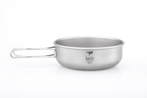 Keith Titanium Bowl with Folding Handle Ti5325