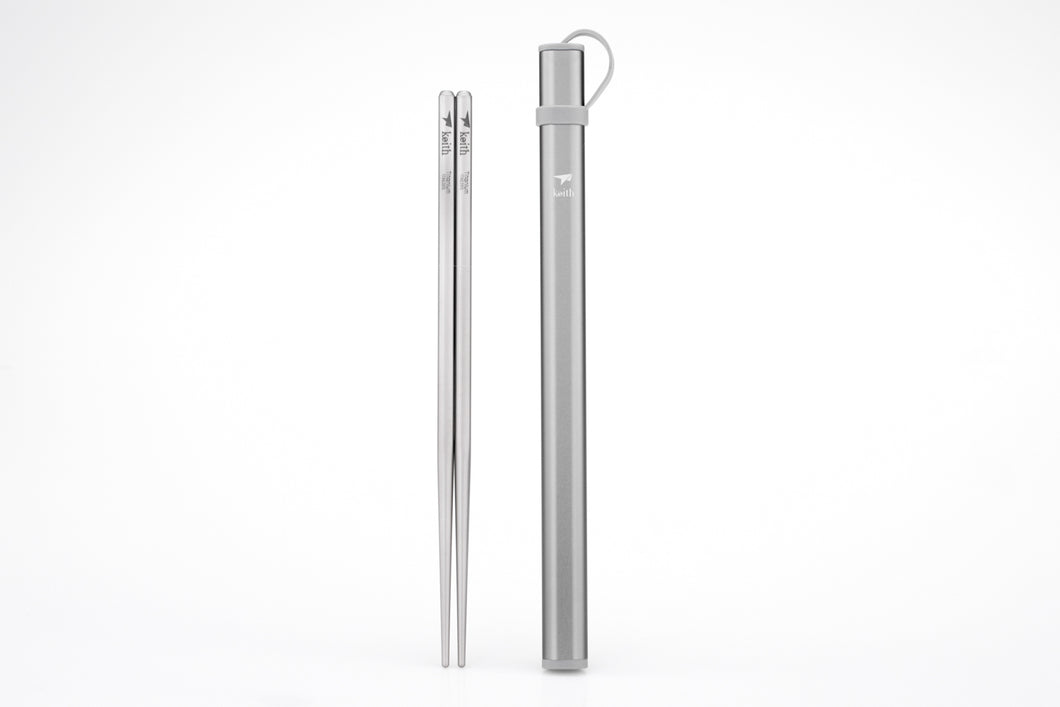 Keith Titanium Portable Square Chopsticks Ti5822