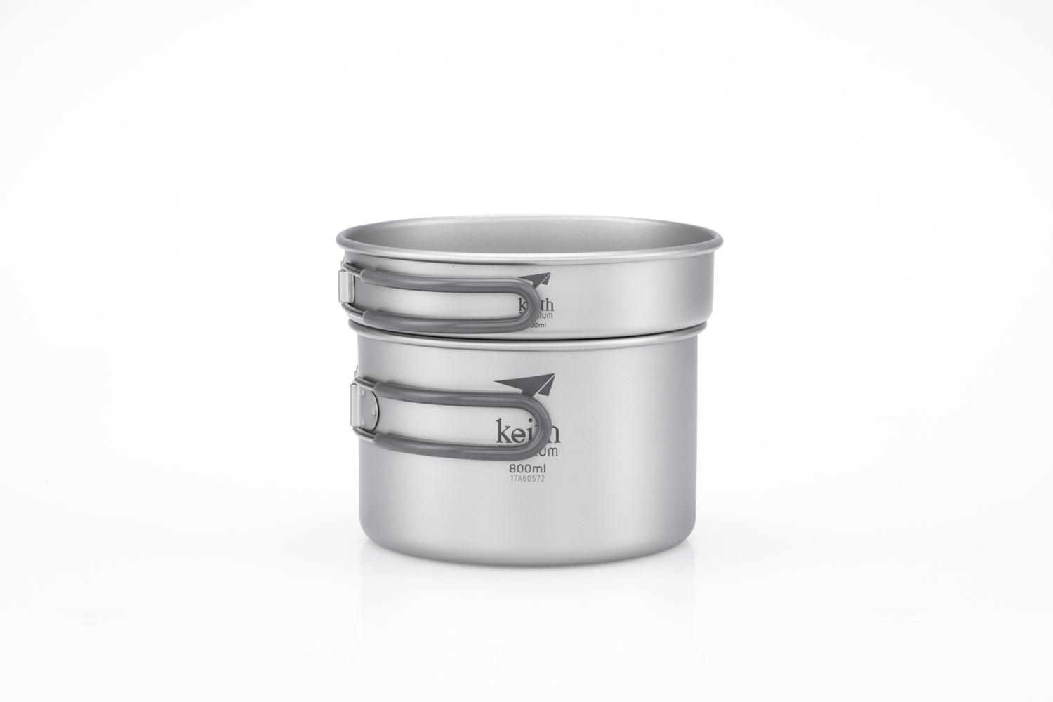 Keith 2-Piece Titanium pot and Pan Cook Set Ti6012