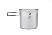 Load image into Gallery viewer, Keith 3-Piece Titanium Pot and Pan Cook Set Ti6014