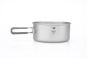 Keith 2-Piece Titanium Pot and Pan Cook Set Ti6016