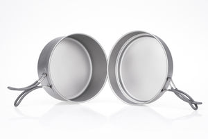 Keith 2-Piece Titanium Pot and Pan Cook Set Ti6017