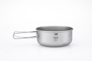 Keith 3-Piece Titanium Pot and Pan Cook Set Ti6053
