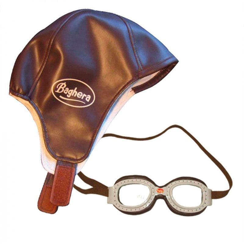 Baghera Vintage Racing Cap and Goggles