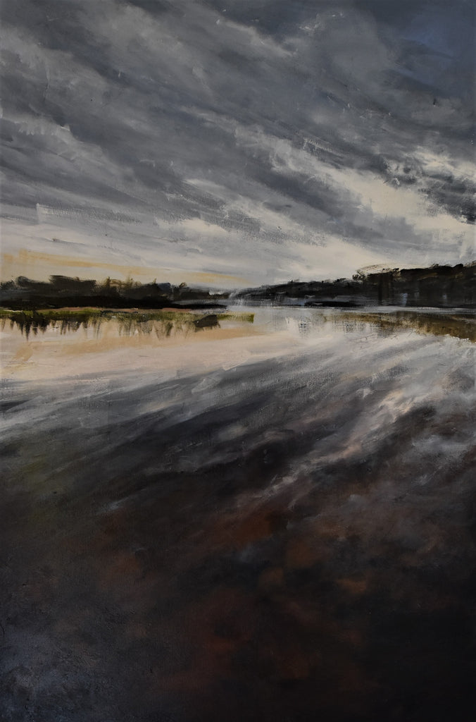 Cuttagee Estuary - Original acrylic painting on stretched canvas