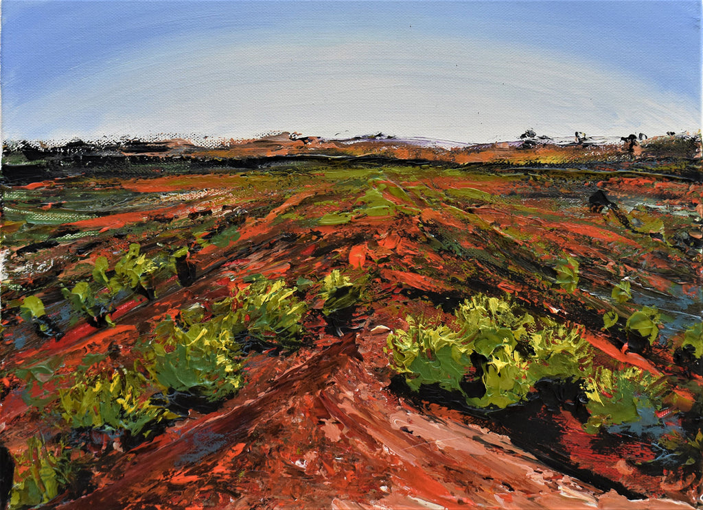 Evening at MacDonnell Ranges - Original acrylic painting on stretched canvas