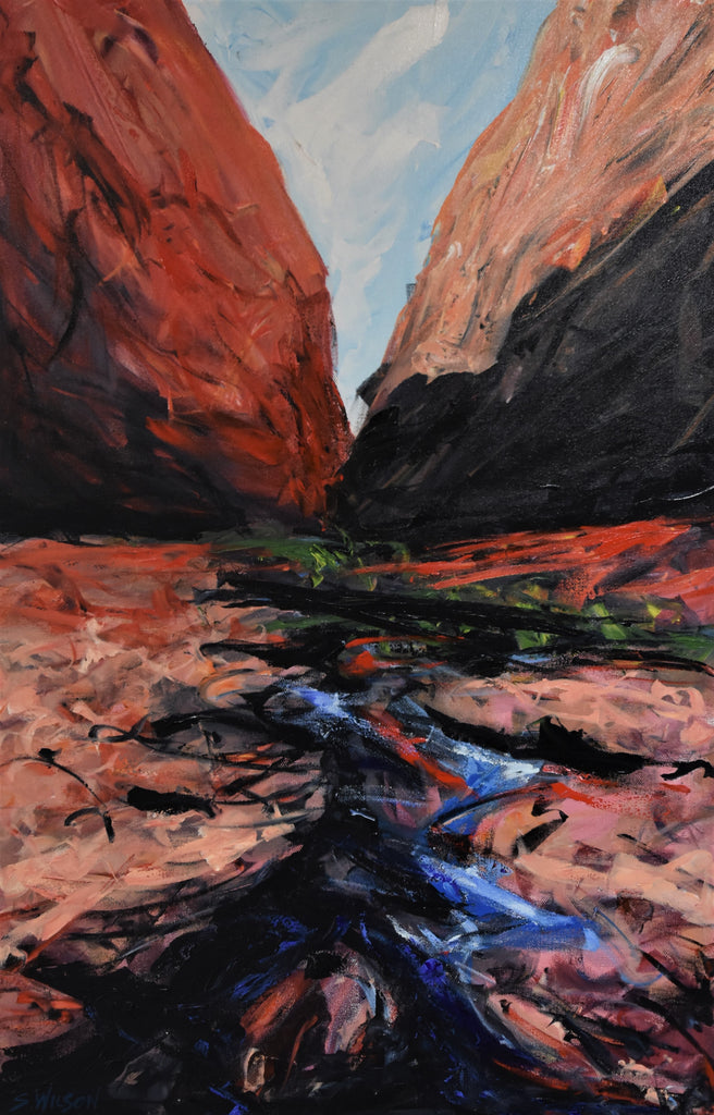 Kata Tjuta - Original acrylic painting on stretched canvas