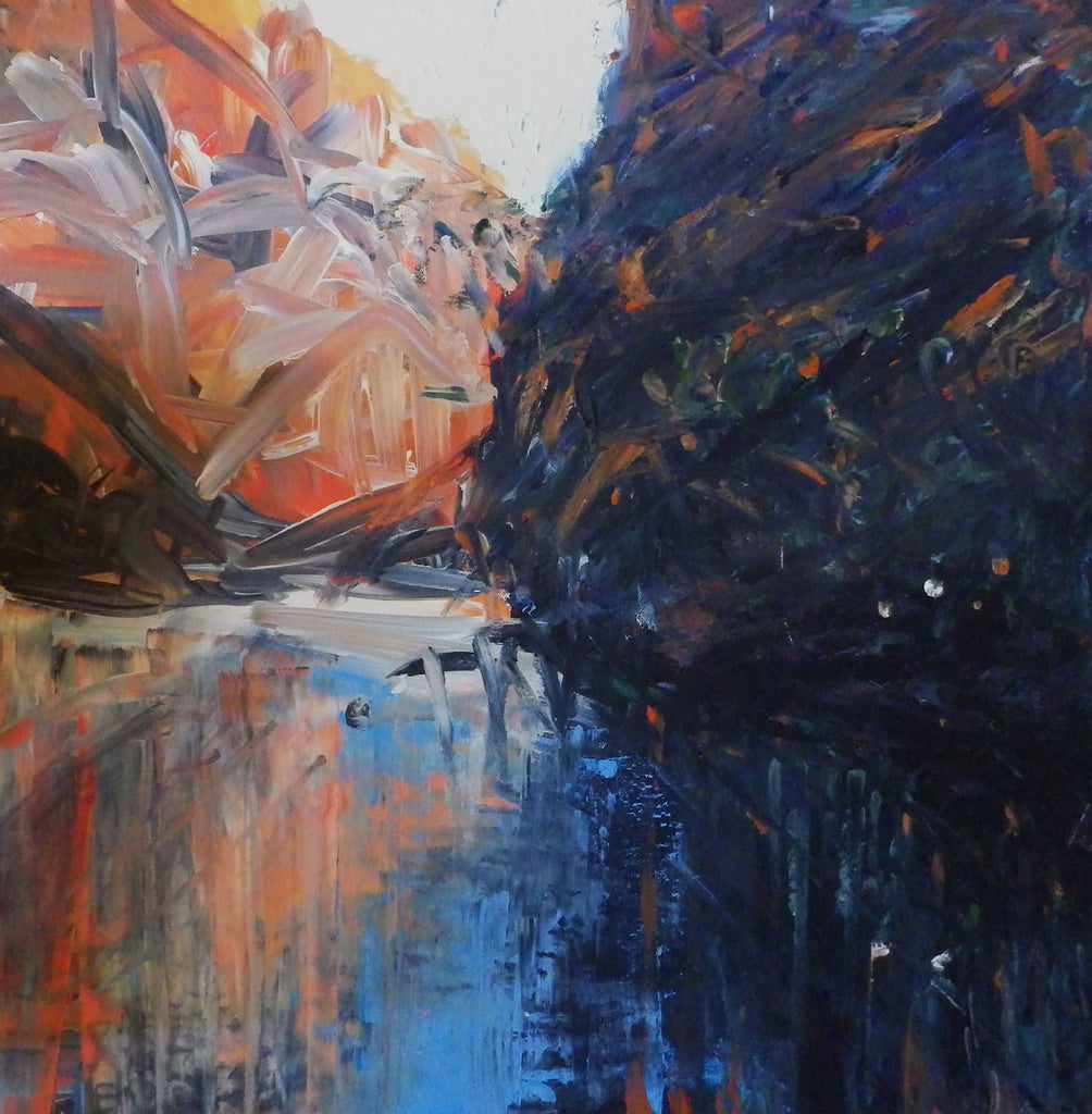 Ellery Creek Big Hole - Original acrylic painting on stretched canvas