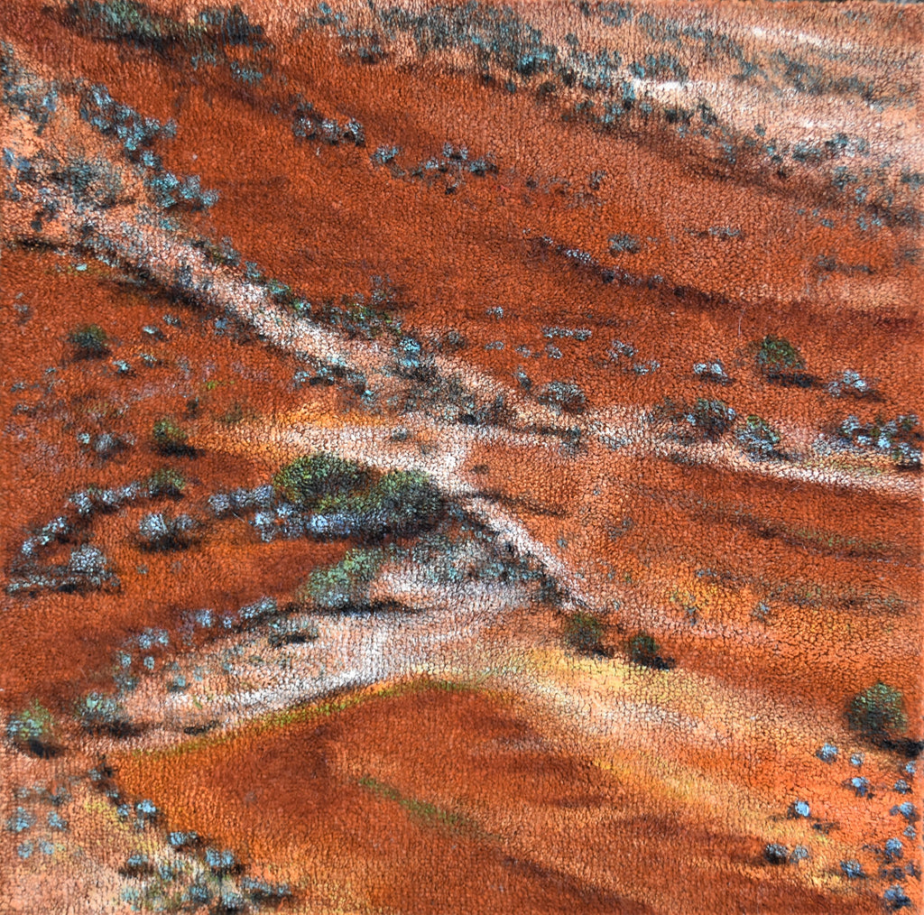 The Breakaways Coober Pedy - Acrylic on carpet tile