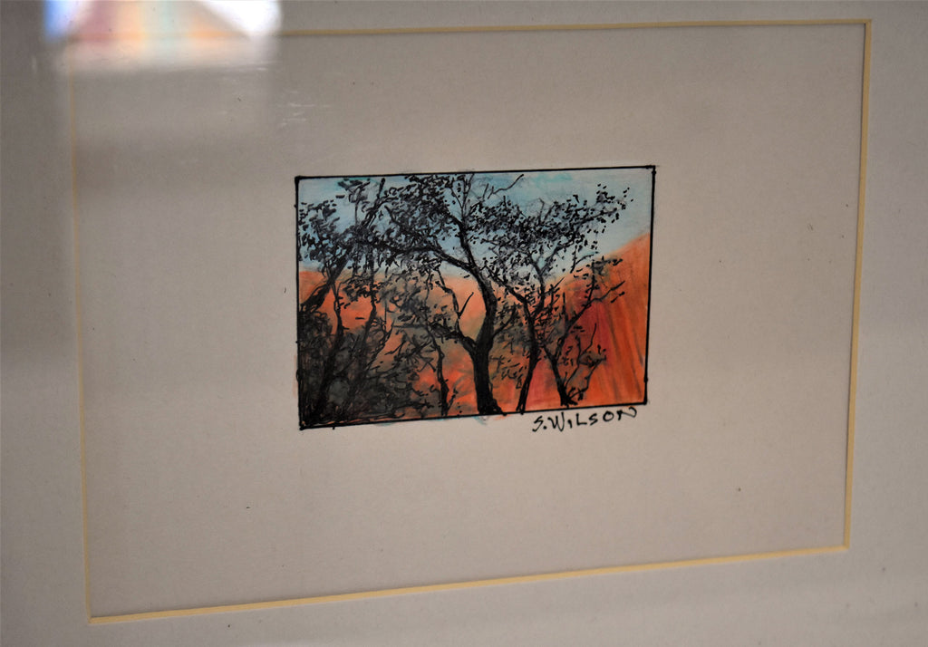 Uluru - Original work on paper using mixed mediums