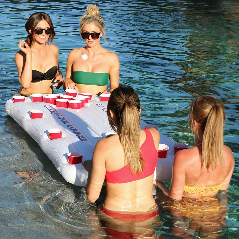 Floating Beer Pong Table & Lounger